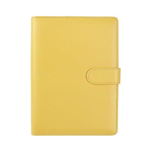 Zhi jin, raccoglitore ricaricabile con inserti, adatto per quaderni e taccuini. formato: a5. con portapenne lemon yellow