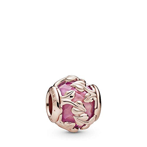 Pandora Leaves Rose Charm with