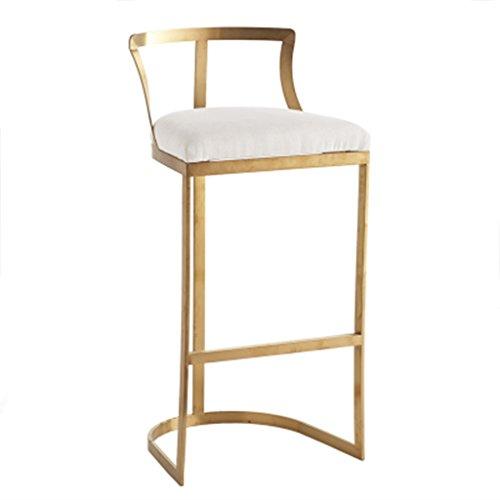 SjYsXm-Bar stool Eisen Barhocker einfache kreative Mode Barhocker hohe Hocker Barhocker Barhocker Hochstuhl Front Desk Chair (größe : 65cm) - Eisen Barhocker