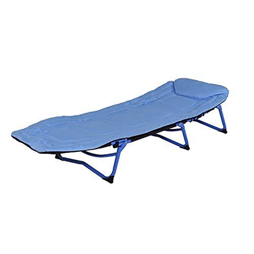 Breite Futon-rahmen (ZHAO YELONG Feldbett Klappbett Tragbarer Multifunktions-Loungesessel Gästebett Begleitbett Campingbett Im Freien (Color : Blue))