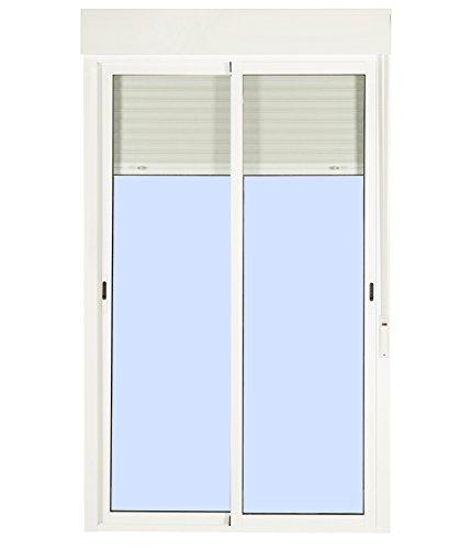 Balconera Aluminio Corredera Con Persiana (PVC) 1500 × 2185cm. 2 hojas (marco y cajón persiana en kit)