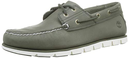 Timberland Tidelands Classic 2 Eye, Scarpe da Barca Uomo, Verde (Grape Leaf Hpa), 44.5 EU