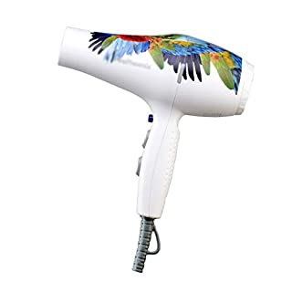 Hair Dryers Parrot Hair Dryer Does Not Hurt High Power Hair Dryer Light Weight Mute Hair Salon Barber Shop Style Air Duct (Color : White, Size : 21 * 8.7 * 20cm)