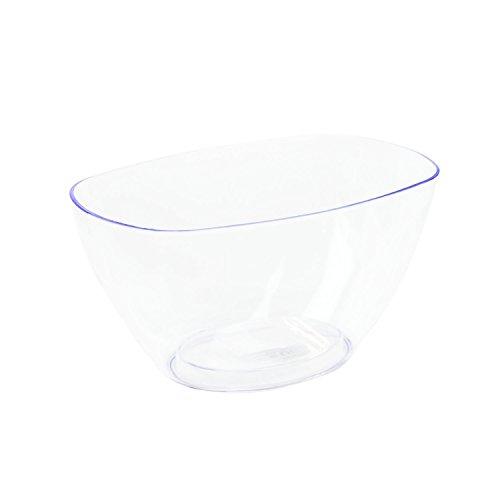 myBoxshop 1,6 l Transparent de 100 coupelles Jardinière Coupe Assiette décorative Décoration Coque Pot de fleurs