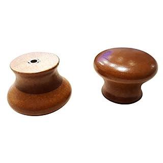 12 X Wooden Kitchen Door Knobs Handles Cabinet Cupboard 38 mm diameter