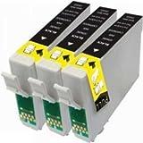 Prestige Cartridge T1291 3-er Pack Druckerpatronen für Epson Stylus SX235W, SX420W, SX425W, SX435W, SX445W, SX525WD, SX535WD, SX620FW, Office B42WD, BX305F, BX305FW, BX305FW Plus, BX320FW, BX525WD, BX535WD, BX625FWD, BX630FW, BX635FWD, BX925FWD, BX935FWD, WorkForce WF-7015, WF-7515, WF-7525, schwarz