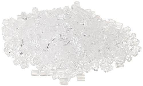 500 Stücke Klar Gummi Ohrring Ohrstopper Sicherheit Rücken für Fisch Haken Ohrringe (Klar Ohrringe)