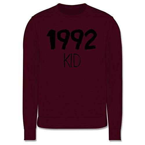 Geburtstag - 1992 KID - Herren Premium Pullover Burgundrot
