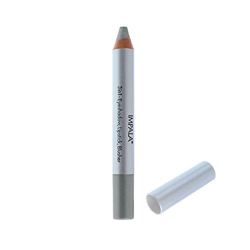 Impala Crayon Exclusif Jumbo 3 en 1 N08 Argent Foncé Yeux Lèvres Fard Tenue Longue