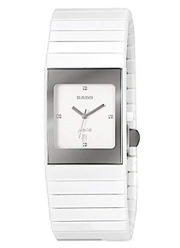 Rado Damen-Armbanduhr Ceramica Jubile mit Diamanten Datum Analog Quarz R21982702