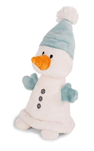 Nici 42007 Winter Kuscheltier Schneemann Flakejake, 20 cm, weiß