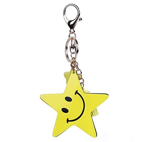 Preisvergleich Produktbild Toporchid Smiley Star Quaste Schlüsselanhänger Schlüsselanhänger Tasche Charm Schlüsselanhänger Geschenk (Gelb)