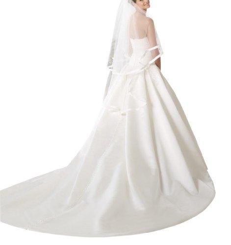 GEOGE BRIDE - Robe de mariage Sexy en Mousseline avec bretelles hors de l'Epaule Blanc