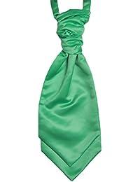 Mens and Boys Mermaid Green Satin Wedding Cravat