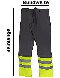 Warnschutzhose Arbeitshose mit Reflektorstreifen Größen 46 - 64 (46)