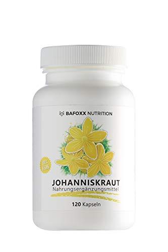 Johanniskraut 120 Kapseln im 4 Monatsvorrat - Einführungspreis - Hochdosiertes Naturprodukt mit 400 mg Johanniskraut Pulver - echtes Hypericum Perforatum - vegan - hergestellt in Deutschland
