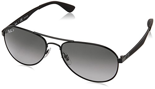 Ray-Ban Herren 0RB3549 002/T3 58 Sonnenbrille, Black/Greygradientdarkgreypolar,