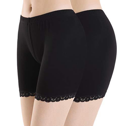 Ferrieswheel Story Unterrock Hose Damen Kurze Leggings Hosen - Bequem Stretch Workout Yoga Shorts - Baumwolle Stretch Kurze Bikini