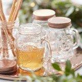 """Henkelglas """"Beautiful Botanics"""" rosegold 4 Stück 9 cm Schraubglas Hochzeit Party"""