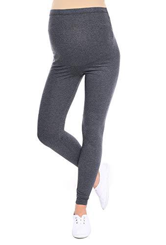 Oasi Mija Gute Qualität Umstandsleggings für Schwangere Lange Leggings/Hose 3085 (S, Graphit)