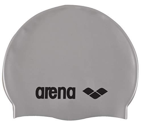 Arena classic silicone, cuffia unisex adulto, grigio (silver/black), taglia unica