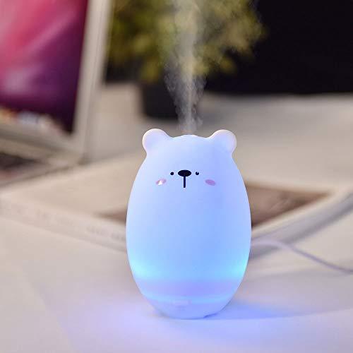 TIB Heyne USB Humidifier Mini Bedroom Car Purifying Air Moisturizing Aromatherapie Machine Bean Ding Bear,smalleyedbear