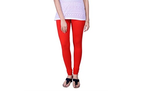 Lux Lyra Women\'s Cotton Premium Chudidar Leggings (Lux_C_Red_Free)
