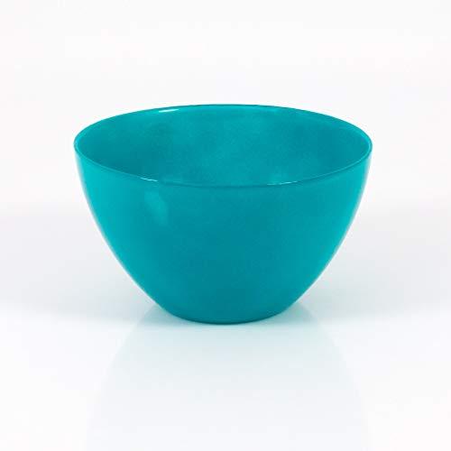 INNA Glas - Coupelle décorative / Coupelle apéritif en verre DORI, turquoise, 9 cm, Ø 17 cm - Plat de service / Coupelle ronde