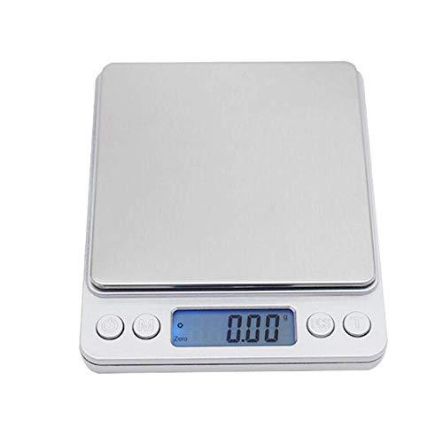 DuDuDu Électronique numérique balances de Poche Mini Portable Case Postale Cuisine Bijoux Poids Balance Balance numérique 1000g/g 2000 / 3000g / 0,1 g