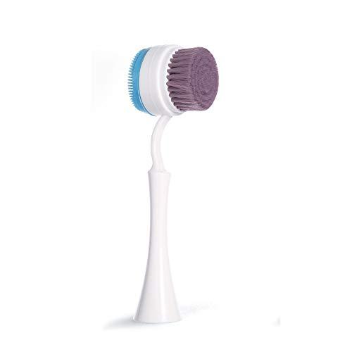 Gesichtsreinigungsbürste - Reinigungsbürste mit weichen Borsten zu massieren und scheuern die Haut tief Reinigung Waschen Make-up Tief Pore Exfoliation, Lila Blau