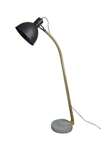 Lámpara de pie estilo industrial metal negro–madera y metal–Coupole orientable–Ambiance Industrial y moderno–Chicago