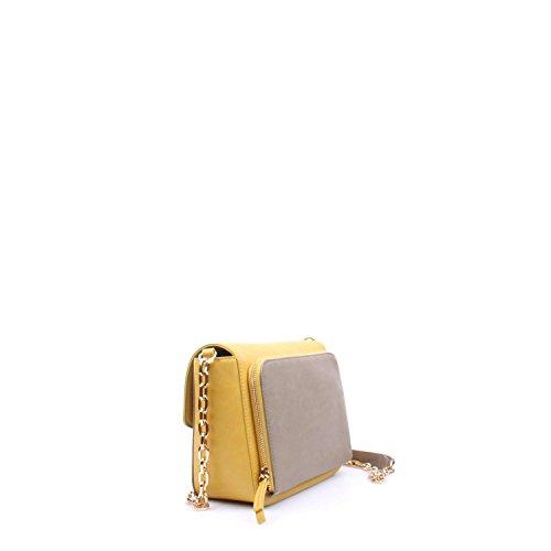 LIU JO, Damen Handtaschen, Umhängetaschen, Cross-Bags, 27 x 17 x 13 cm (B x H x T), Farbe:Schwarz Beige MALTO/NUGGEST