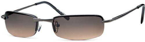 BEZLIT Herren Sonnenbrille Rechteckbrille New Matrix Evo Fliegerbrille Braun/Eloxiert