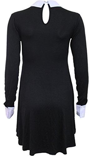 Spiral Women – Gothic Rock – Peterpan Collar Baby Doll LS Dress – X-Large