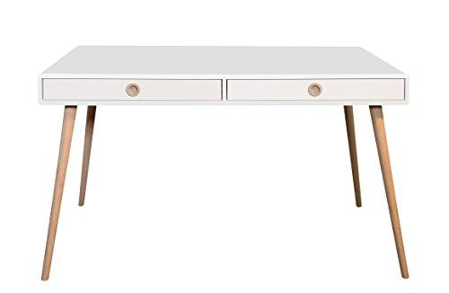 Steens Schreibtisch Soft Line, Computertisch, Bürotisch mit 2 Schubladen, (B/H/T) 130 x 67 x 70 cm, MDF, Weiß