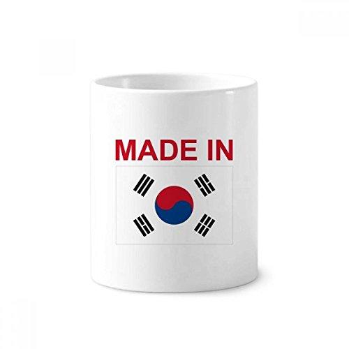 DIYthinker Hegestellt in Südkorea Land Liebe Zahnbürste Stifthalter Tasse Weiß Keramik Tasse 12...