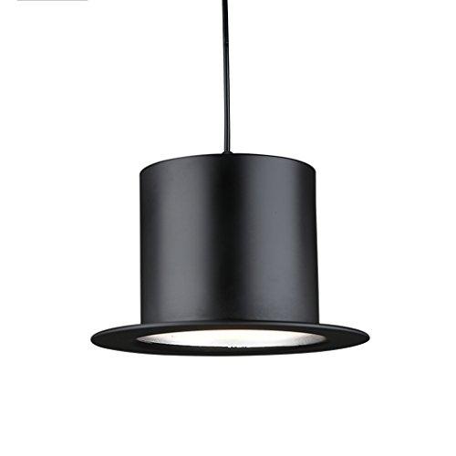 Hat Pendelleuchte Retro Einfache Aluminium Kronleuchter E27 Cafe Bar Restaurant Licht Holz Kronleuchter (Farbe : Silver inside-Flat top) (Flat Hat Club)