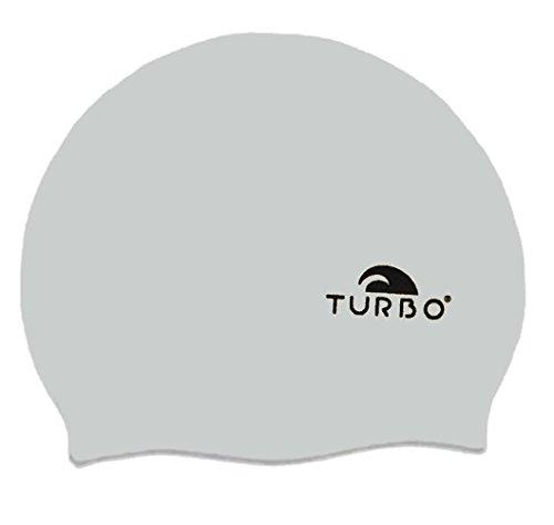 TURBO Badekappe silber grau aus Silikon Einheitsgröße