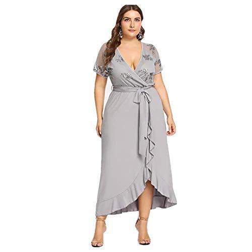 Damen Bluse Elegant V-Ausschnitt Langarm Casual Oberteil Lose Langarmshirt V-Ausschnitt Vintage - Pailletten Applique V-ausschnitt Kleid