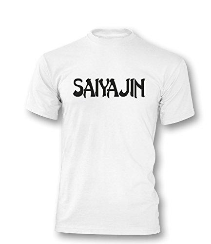 Saiyajin Herren T-Shirt Weiss/Schwarz