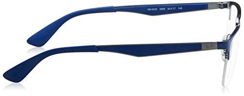 Ray Ban Optical Montures de lunettes RX6335 Pour Homme Matte Black, 54mm blau - grau