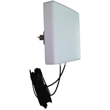 Antenne 4G LTE MIMO Directionnelle 700/800/900/1800/2100/2600 Mhz LowcostMobile 2x10m noir Connectique SMA Câble LMR200 pour Huawei B593, E5180, E5186, B310, B315, B525, Asus, TP LINK, Dlink et plus