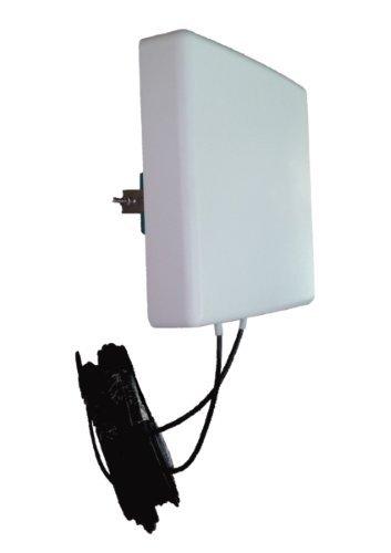 Antenne 4G LTE MIMO Directionnelle 700/800/900/1800/2100/2600 Mhz LowcostMobile 2x10m noir Connectique SMA Câble LMR200 pour Huawei B525, B528, B618, E5180, E5186, B315, Asus, TP LINK, Netgear et plus