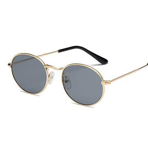 WERERT Sportbrille Sonnenbrillen Sunglass Frame Sunglasses Colorful Sunglasses Sunglasses Reflective Glass Vintage Metal Oval Small