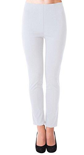 DANAEST Damen stretch Hose gerades Bein ( 491 ), Grösse:S, Farbe:Weiß (Bein Stretch Gerades Hose)