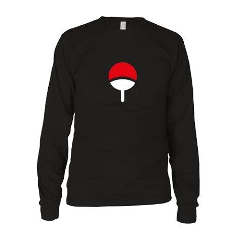 Familie Uchiha - Herren Langarm T-Shirt, Größe: L, Farbe: schwarz