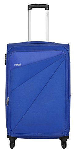 Safari Fabric 68 cms Blue Soft Side Suitcase (Mimik 4W 65 EC BLUE)