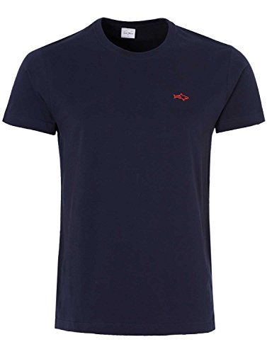 Tshirt mens designer casual John Shark original tees T-shirt black navy white S M L XL XXL short sleeve England (XL, NAVY)