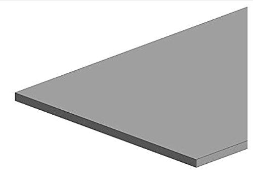 K&S Metal 000252 Messingplatte 101.6 x 254 mm, 0.005 Zoll dick, 6 x 1 Stück