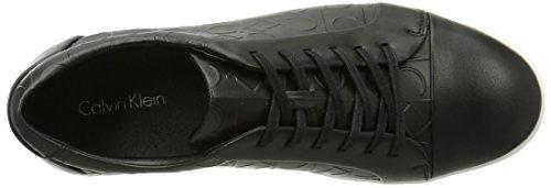 Calvin Klein Igor Brushed Ck Emboss, Sneakers Basses Homme Noir (Blk)